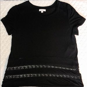 Aritzia Wilfred T-shirt with Lace Detail